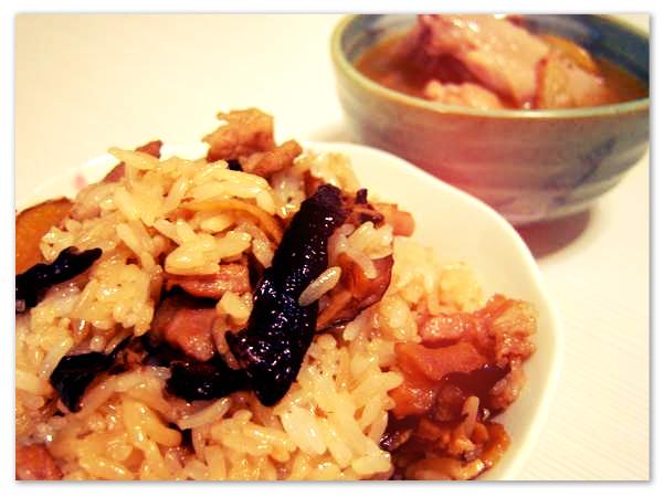 情人節大餐: 麻油雞+油飯