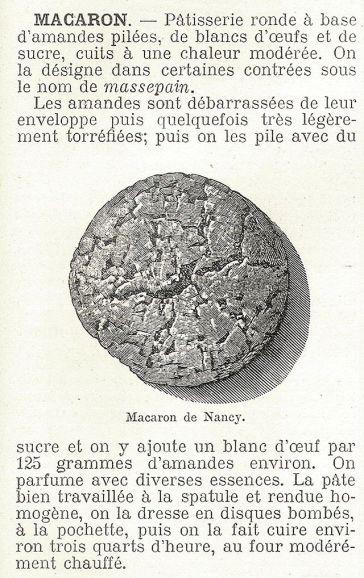 1904年法國食品百科裡記載的Macaron
