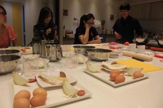 老師替每個人都準備好了食材,手作有感、下課後下一餐也都做好了!